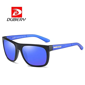 38a19afefe DUBERY Sunglasses Men s Polarized Sunglasses Outdoor Driving Men Women Sport  Frame Fishing Hunting Boating Glasses (