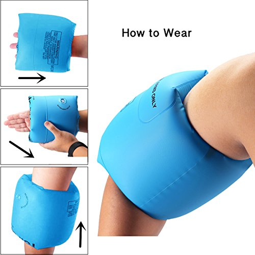 Arm Floaties Inflatable Swim Arm Bands Floater Sleeves for Kids and Adults