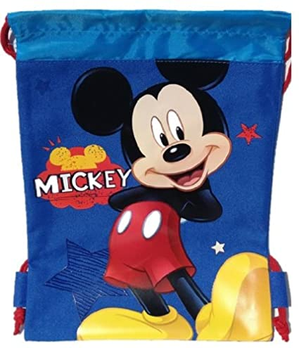 Amazon Com 1 X Mickey Mouse String Bag And Mickey Mouse Wallet
