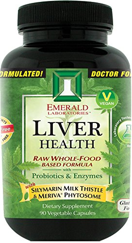 Emerald Laboratories - Liver Health - with Silymarin Milk Thistle & Meriva® Phytosome - 90 Vegetable Capsules (Raw Freeze Dried Turmeric compare prices)