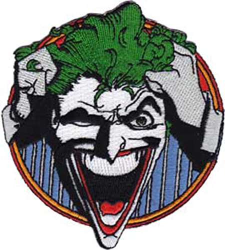 DC Comics Originals The Joker Laughing Color Patch (Can Be Ironed Or Sewn On), (Batman) Officially Licensed DC Products
