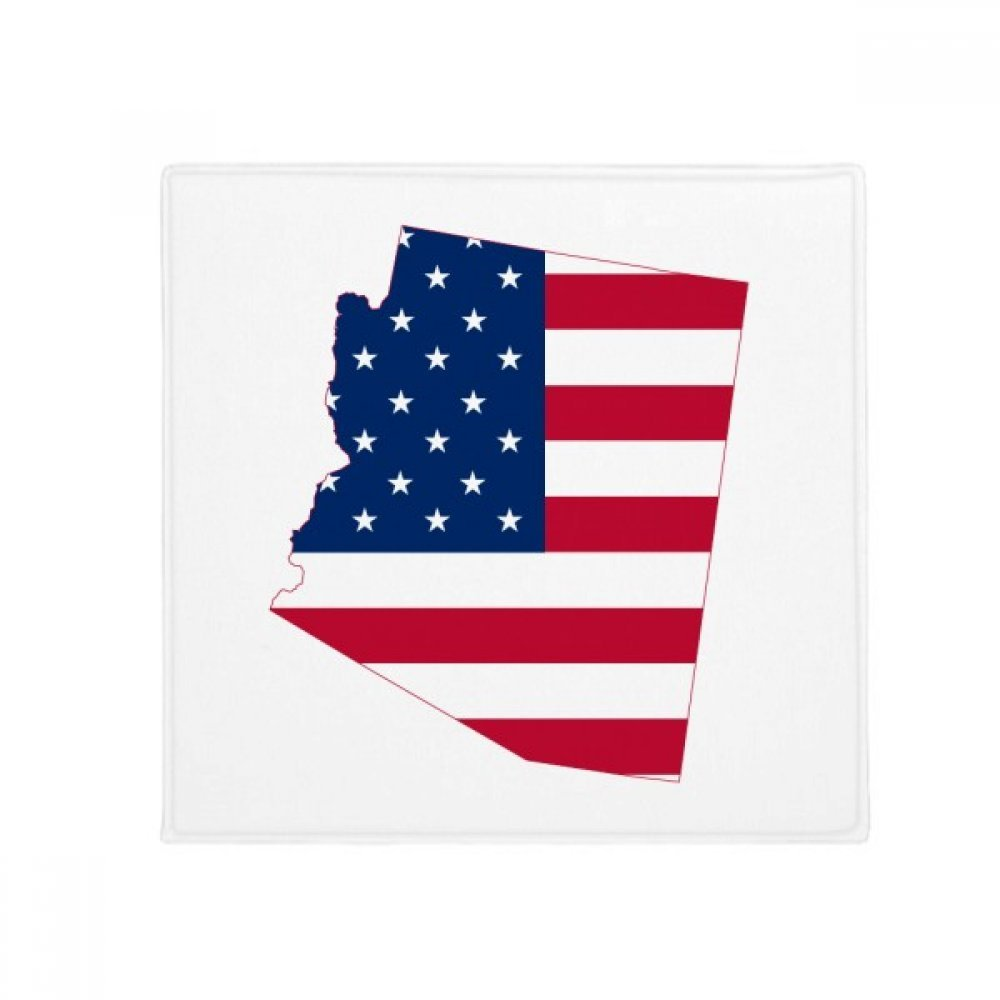 DIYthinker Arizona USA Map Stars Stripes Flag Shape Anti-Slip Floor Pet Mat Square Home Kitchen Door 80Cm Gift