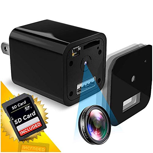 Hidden Spy Camera | 1080P Full HD | Charger | Has Motion Detection | Loop Recording | Flash Transfer...