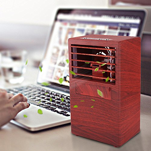 YOUDirect Personal Mini Air Conditioner Fan 9.5-inch - Small Desktop Fan Mini Evaporative Air Cooler Cooling Fan