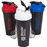 BlenderBottle 28 Ounce - Red White and Blue 3 Pack with Loop and Blenderball - Amazon Exclusive Colors