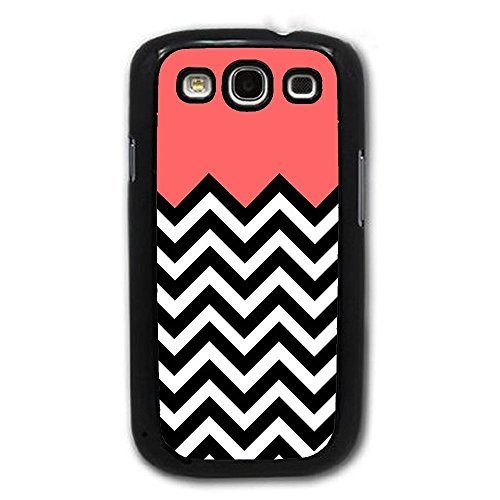 Bereadyship For Galaxy S3 Case - Coral Plus Chevron for Samsung Galaxy i9300 ... ()