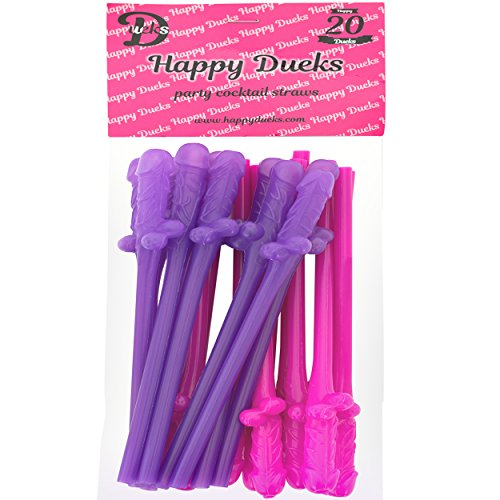 happy-dueks-bachelorette-penis-straws-20-pack-pinkpurple-dick-straws-great-for-bridal-partyhen-parti
