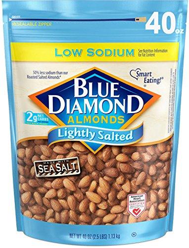 Blue Diamond Almonds Low Sodium Lightly Salted, 40 Ounce