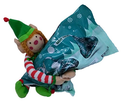 Holiday Gift Set Toy Elf and Special Edition Hersheys Holiday Chocolate Kisses Bundle (Mint Truffle)
