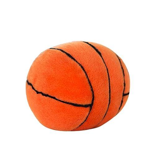NUOBESTY Peluche Baloncesto Peluche Fluffy Baloncesto con Sonido ...