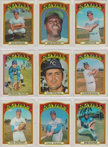 - Kansas City Royals 1972 Topps Baseball Team Set (Amos Otis) (Lou Piiniella) (Freddie Patek) (John Mayberry) (Cookie Rojas) (Buck Martinez)