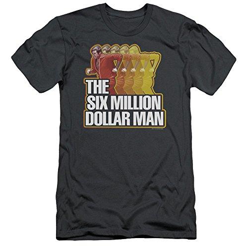 - Six Million Dollar Man Run Fast Slim Fit Unisex Adult T Shirt for Men and Women, X-Large Charcoal