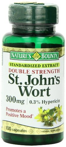 Nature's Bounty St. John's Wort, Double Strength, 300mg, 100 Capsules (Pack of 4)