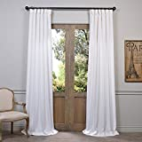 Half Price Drapes FHLCH-VET13191-120 Heavy Faux Linen Curtain, 50 x 120, White
