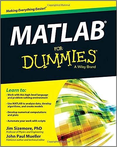 Amazon com: MATLAB For Dummies (9781118820100): Jim Sizemore