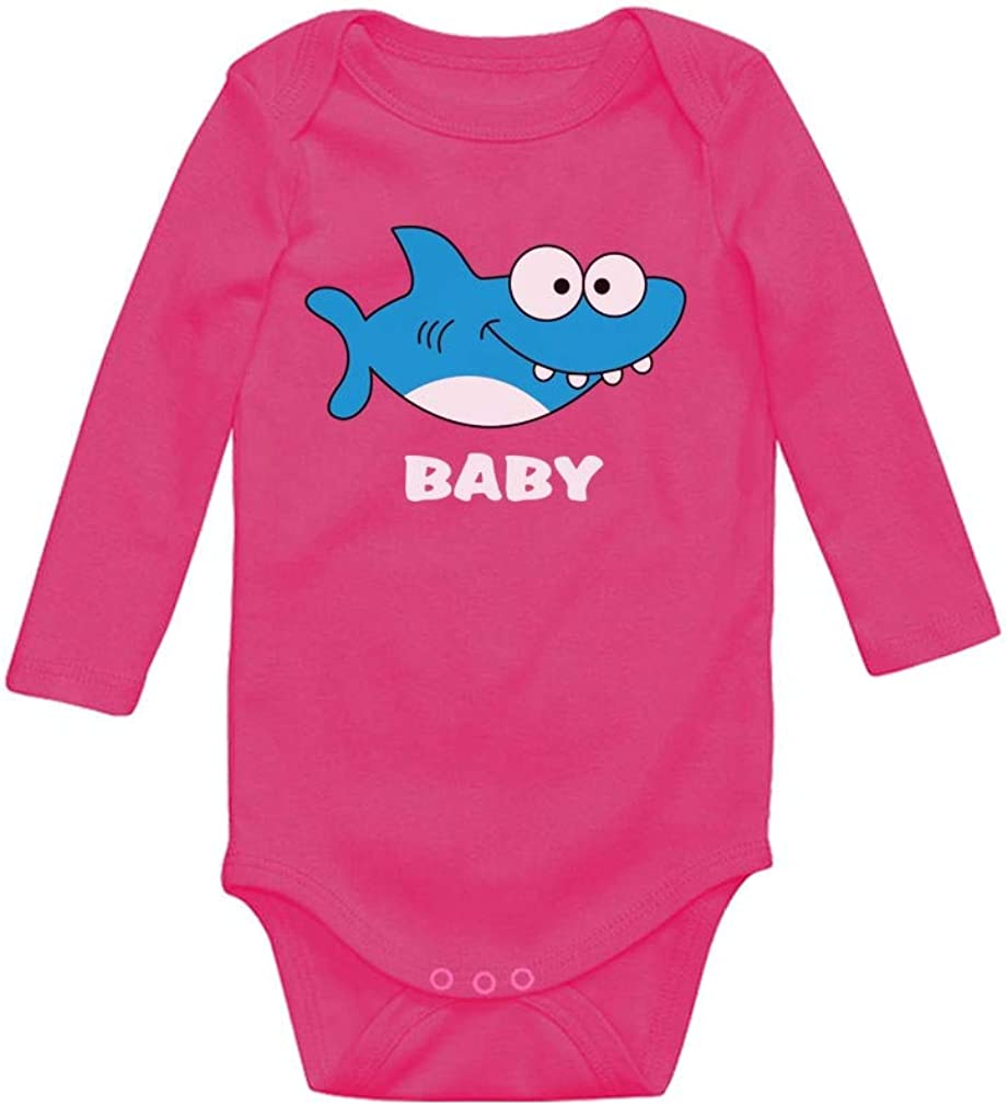Shark Outfit for Baby Boy or Baby Girl Baby Long Sleeve Bodysuit