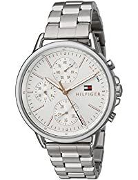 Womens Sport Quartz Stainless Steel Casual Watch, Color:Silver-Toned (Model
