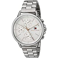 Tommy Hilfiger Women's Sport' Quartz Stainless Steel Casual Watch, Color:Silver-Toned (Model: 1781787)