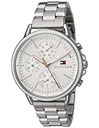 Tommy Hilfiger Women's 'Sport' Quartz Stainless Steel Casual Watch, Color:Silver-Toned