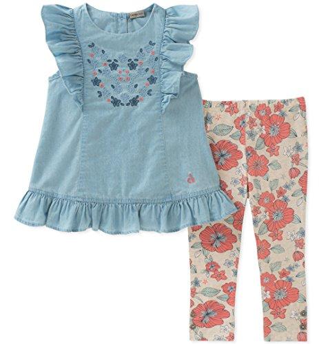 - Calvin Klein Girls' Toddler Tunic Set, Light Blue/Print, 3T