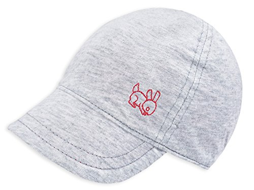 (Keepersheep Baby Reversible Baseball Cap Infant Sun Hat, Shell Embroidery Cotton (12-18 Months, Gray))