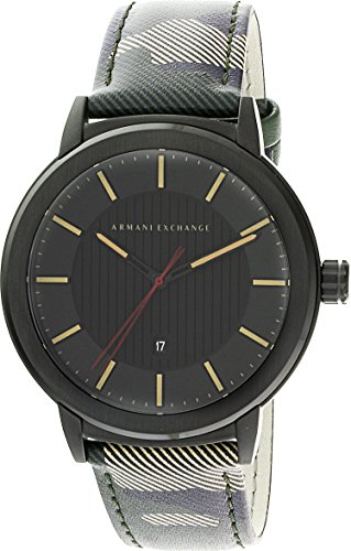 Armani Exchange Men's Street Green Leather Watch AX1460