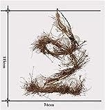 DGS Pure Hand Rattan Glass Bird Nest Chandelier Retro Industrial Wind Engineering Lamps
