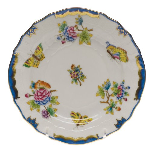 Herend Queen (Herend China Queen Victoria Blue Bread and Butter Plate)