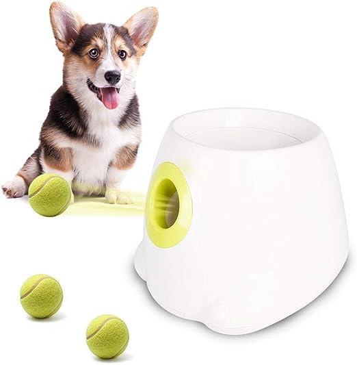 Juguete interactivo para perro, lanzador automático de pelotas y ...