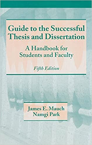 Amazon guide to the successful thesis and dissertation a guide to the successful thesis and dissertation a handbook for students and faculty fifth edition books in library and information science 5th edition fandeluxe Choice Image