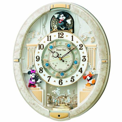 SEIKO CLOCK ( Seiko clock ) Disney automaton clock ( white ) (Seiko White Clock)