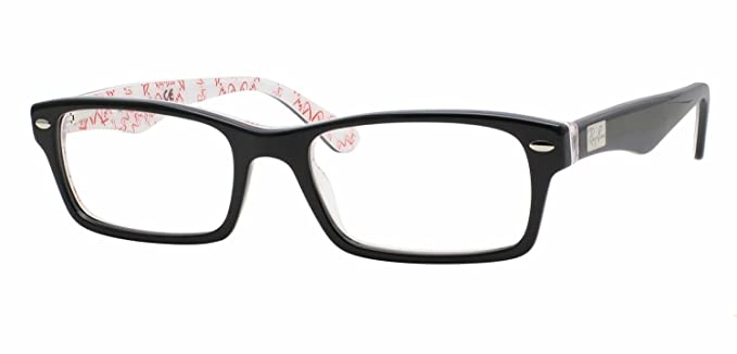 14b0603007 Amazon.com  Ray-Ban RX5206 Unisex Rectangular Eyeglasses (Black Frame 5014
