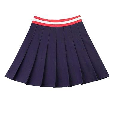 E-Girl E1823 - Falda Plisada para Mujer Azul 34 EU Medium: Amazon ...