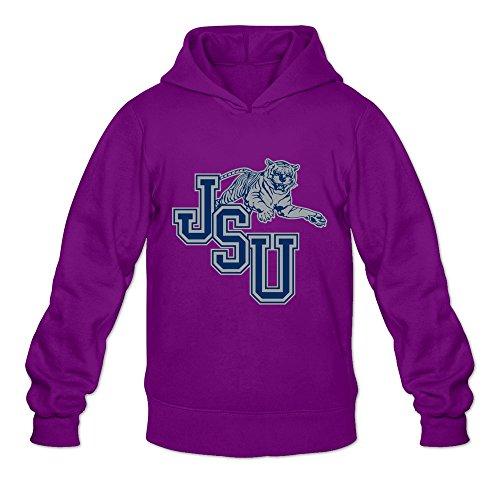 Jackson State Tigers VAVD Men's 100% Cotton Hoodies Purple Size -