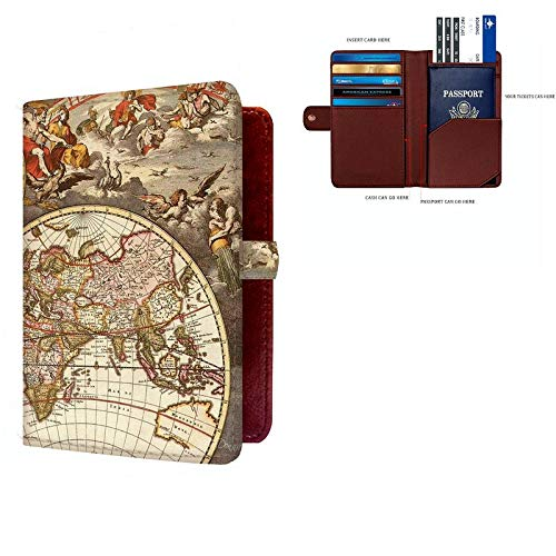 Shopmania Canvas Printed Premium PU Leather Passport Holder Travel Wallet Cover Case Credit card /& Money Storage Organizer SPHW-017