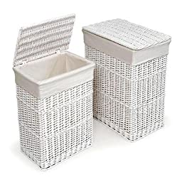 Badger Basket - 2-Hamper Set, White