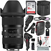 Sigma 18-35mm F1.8 Art DC HSM Lens for Canon with Deluxe Accessory Bundle and Xpix Professional Cleaning Kit