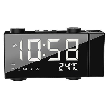 DYHM Despertador Reloj Despertador Digital Reloj Despertador Dual ...