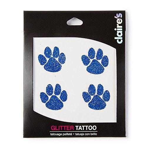 Accessoires Glitter Paw de Claire Imprimer organe temporaire Tatouages Body