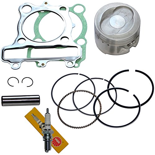 PISTON RINGS GASKET SPARK PLUG KIT SET FOR YAMAHA BEAR TRACKER 250 1999 2000 2001 2002 2003 - Big Bear Piston