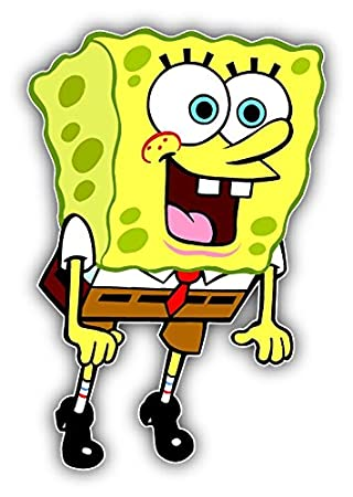Amazoncom SpongeBob SquarePants Amazed Cartoon Car Bumper - Spongebob decals for cars