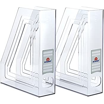 Amazon Acrimet Magazine File Holder Crystal Color 40 Pack Stunning Clear Plastic Magazine Holders