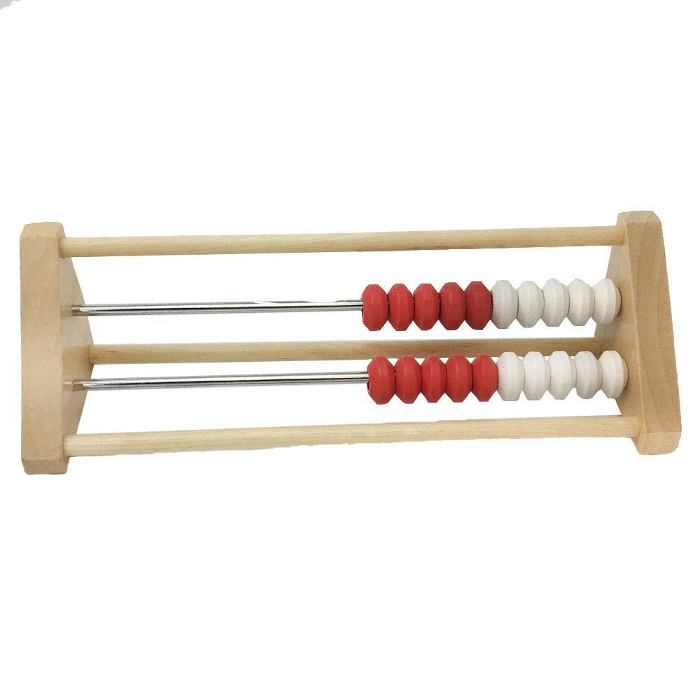 hand2mind 20-Bead Wood Rekenrek ETA hand2mind 79504 Math Counting Frame Ages 4+