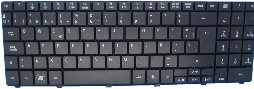 Laptop Keyboard for Acer Aspire 5532 NSK-GFA0S 9J.N2M82.A0S Spain SP Black
