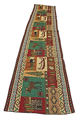 Mountain Life Southwestern Mountain Design Table Runner 13x72 inches by RaaKha