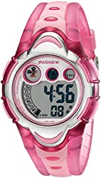 LED Waterproof Sports Digital Watch for Children Girls Boys (Pink)