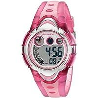 LED impermeable reloj digital para deportes de los niños las niñas niños (Rosa)