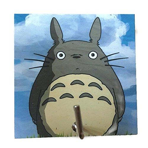 Agility Bathroom Wall Hanger Hat Bag Key Adhesive Wood Hook Vintage Blue My Neighbor Totoro's Photo