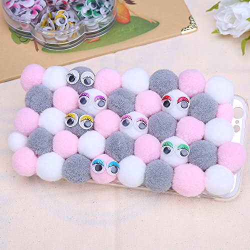 DECORA 240pcs 10mm Colors Wiggly Googly Eyes With Eyelash With Self-adhesive DIY Scrapbooking Crafts