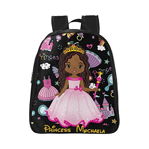 BrownkidswagCom: Personalized Toddler Backpacks African American Cartoon Princess Cute School Book bag